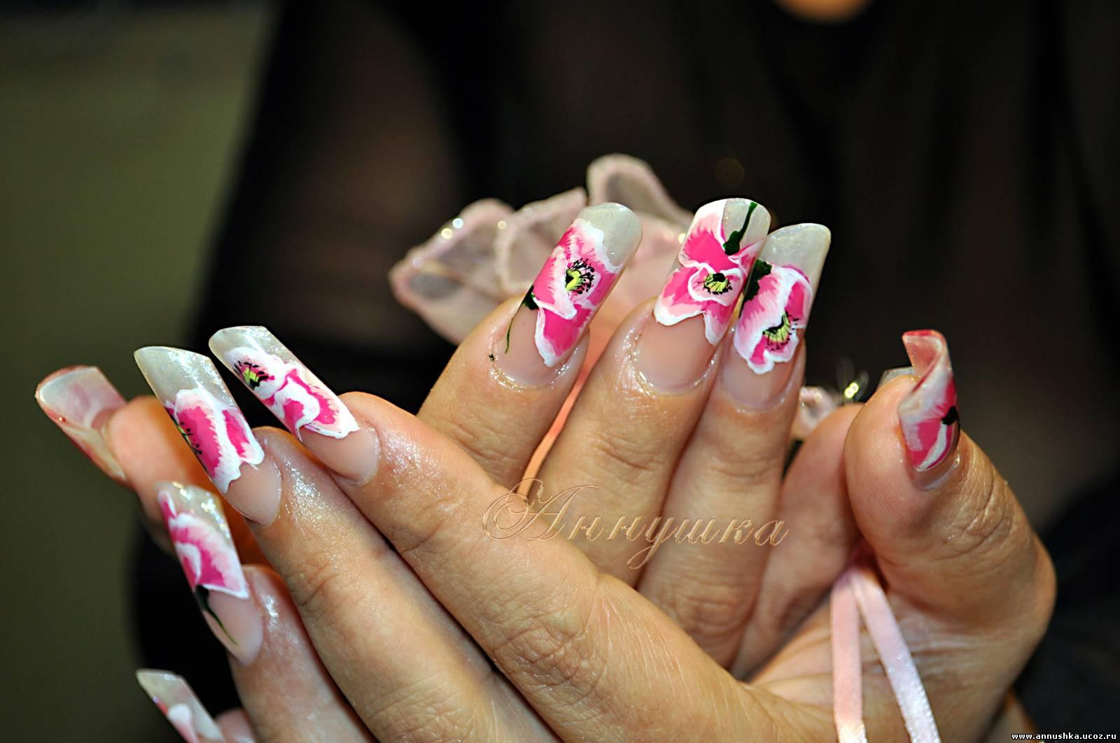 Нарощенные ногти фото пайпы