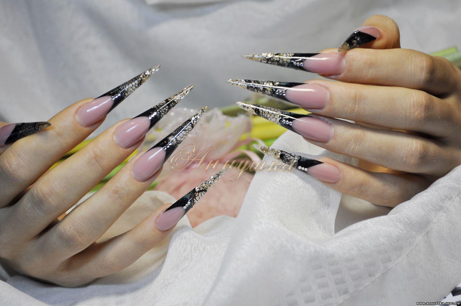 Фото дизайна ногтей стилет